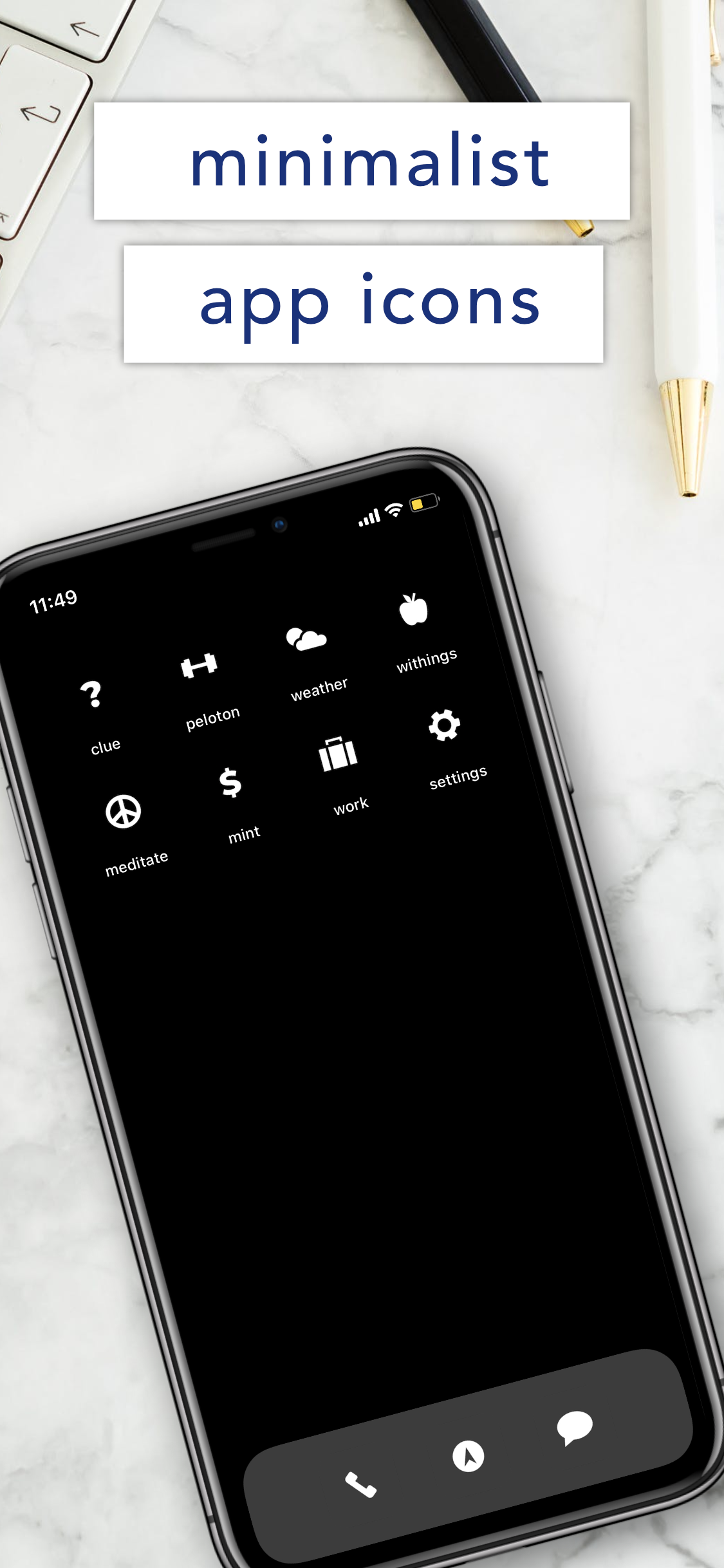 Minimalsist Invisible Black And Gray Background Etsy App Icon Gray Background Plain Black Background