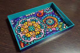 1d19628328dc Resultado de imagen para bandejas pintadas a mano | Proyectos que ...