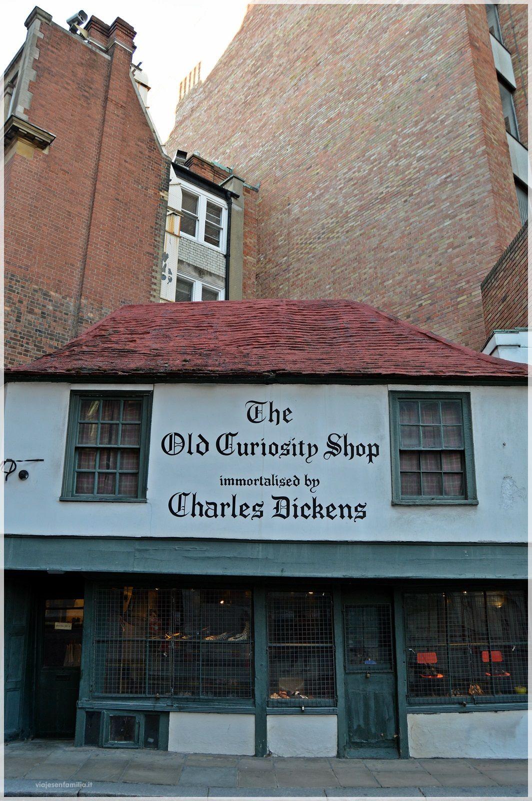 Old Curiosity Shop. Edificado en el siglo XVII , anterior al gran incendio de Londres. http://www.viajesenfamilia.it/