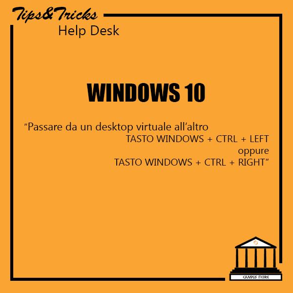 Windows 10: passare da un desktop virtuale all'altro