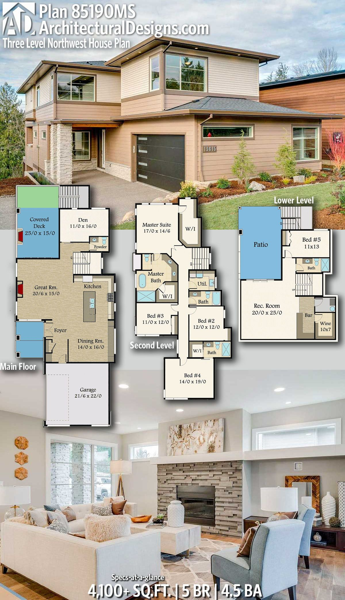 Architectural designs home plan ms gives you bedrooms