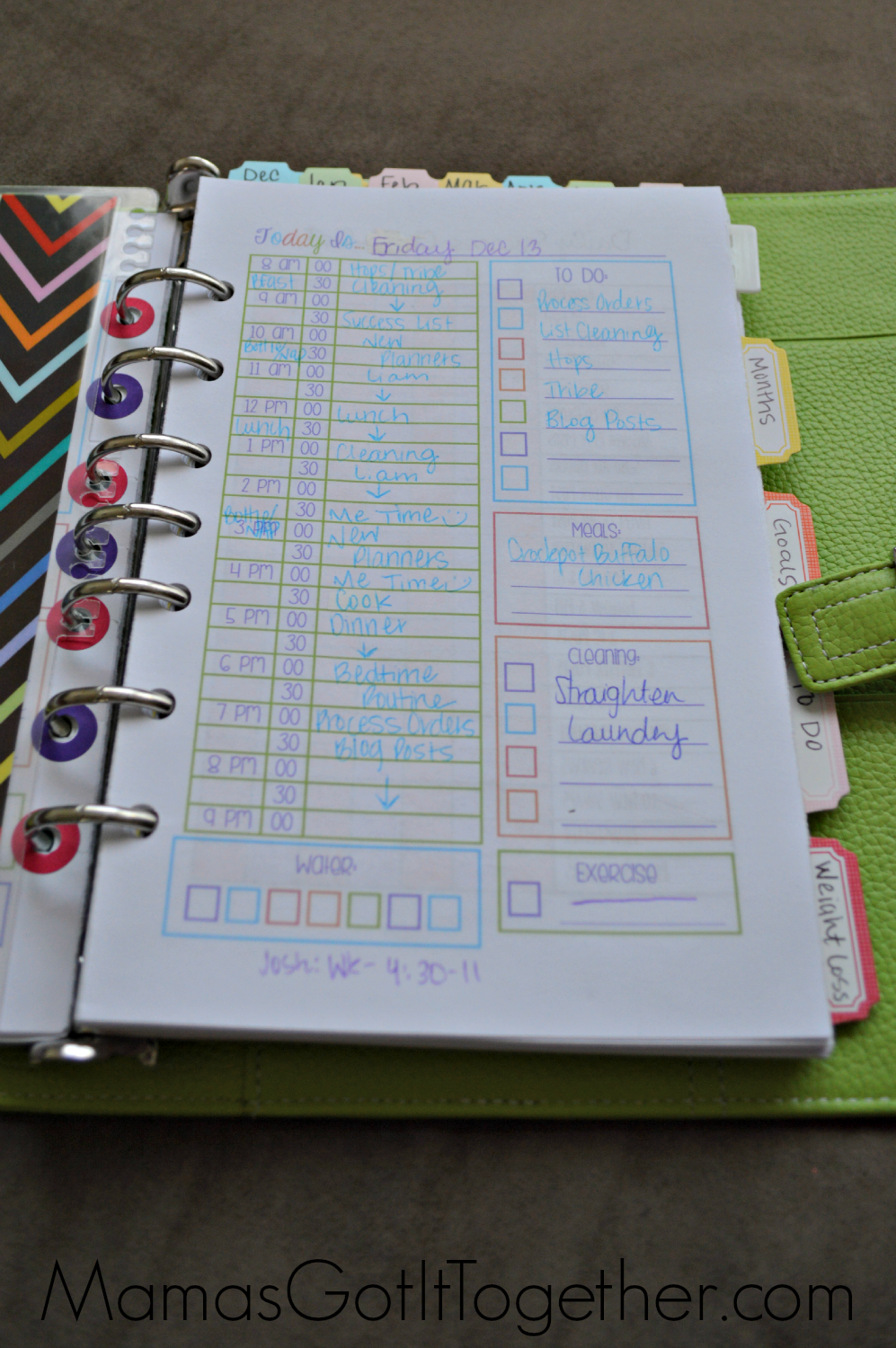 Organized Calendar Planner : My personal planner organization tour mama s got it