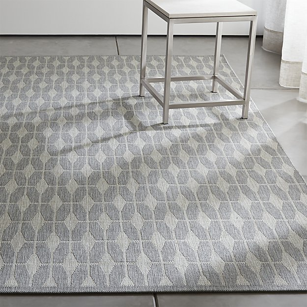 Aldo Dove Grey Indoor Outdoor Rug Crate And Barrel 8x10 300 For Dr Or Screened Porch