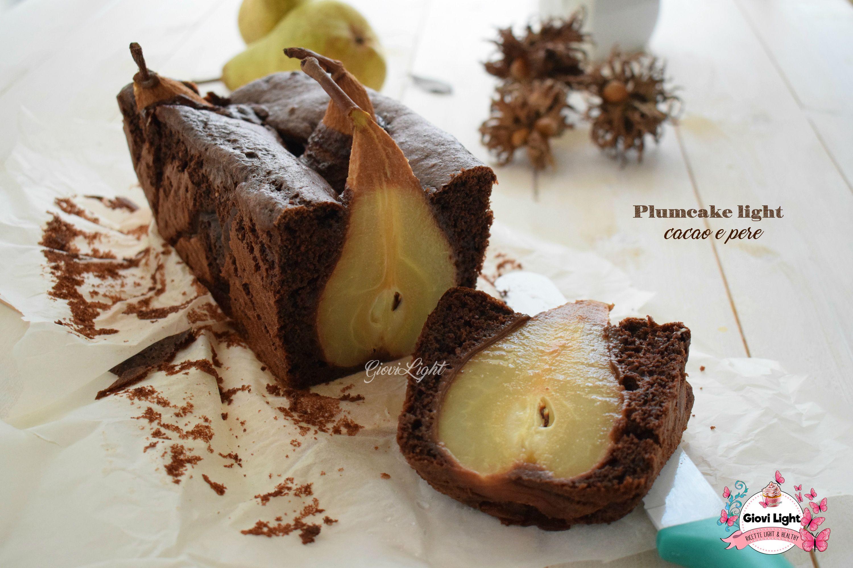 Plumcake light cacao e pere, buono e leggerissimo, non che goloso e molto scenografico! Senza burro per una golosità senza colpe!