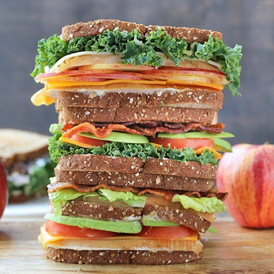 Turkey Apple Cheddar Sandwich Recipe: Four Different Varieties Of Sandwiches Made For A Picnic