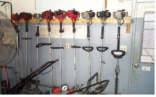 Store Weed Eater Outdoor Projects Garage Workshop