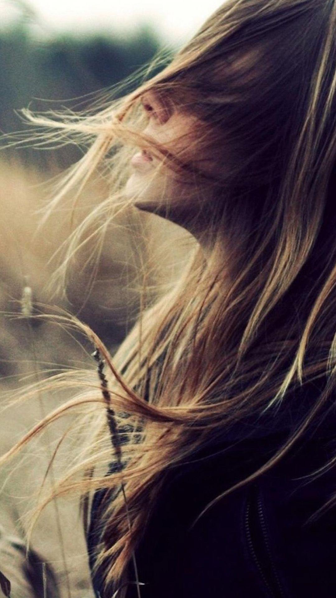Beautiful Girl Face Flying Hair Iphone 6 Wallpaper Download Iphone Wallpapers Ipad Wallpapers One Stop Down Hair In The Wind Beautiful Girl Face Nature Girl