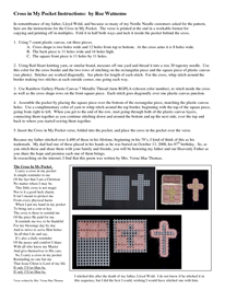 Cross in my pocket instructions by roz watnemo plastic for Cross in my pocket craft