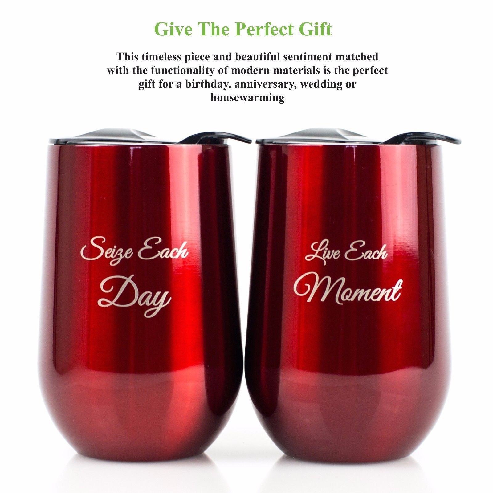 Stemless Stainless Steel Wine Glasses With Lids 16 Oz Shatterproof Set Of 2 Wine Glasses Shatterproof Stemless Wine Glasses