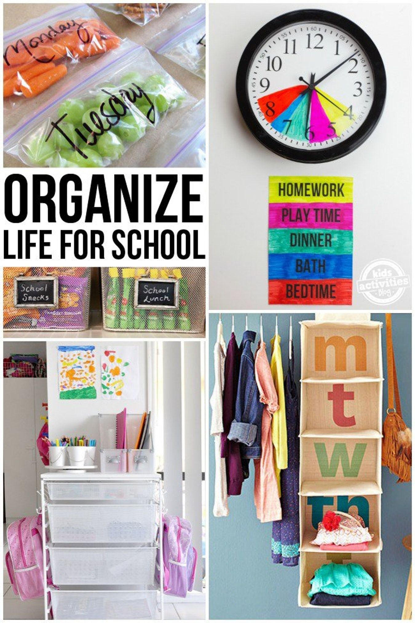 Organizing Life for School Kids Activities Life hacks