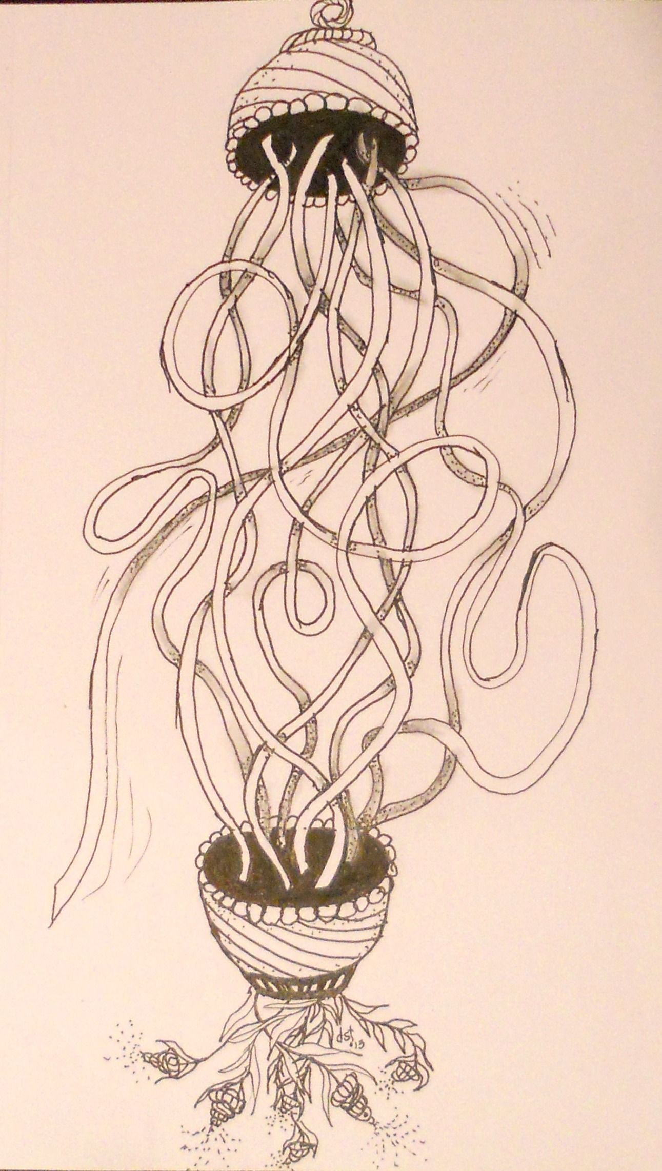 New tangle from Maria & Rick during Certification.  Dusty added zentangle designs in this art form.