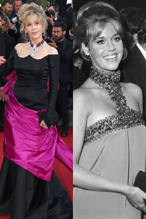 Jane Fonda made her red carpet debut at the premiere of The Game is Over in 1966. See 44 other celebrities' first big events.