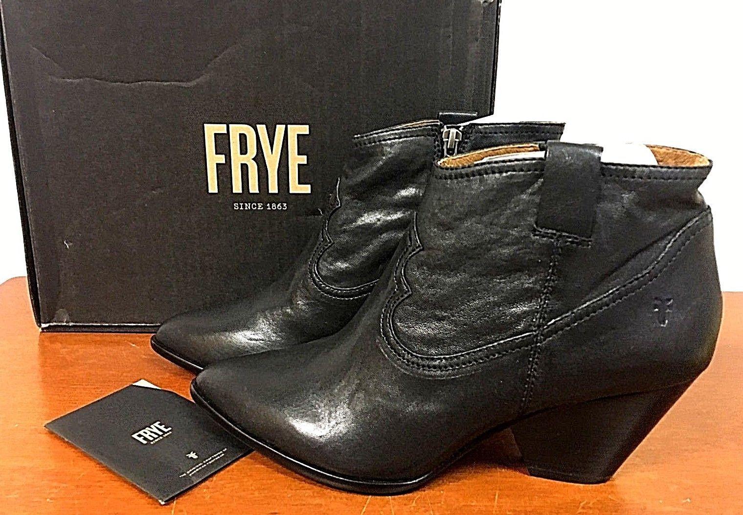 Frye Reina Booty 8M Black