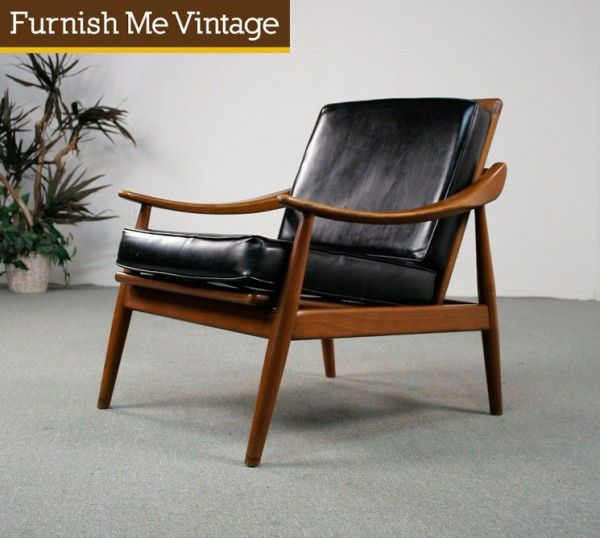 Mid Century Modern Danish Teak Reclining Lounge Chair : danish recliner chair - islam-shia.org