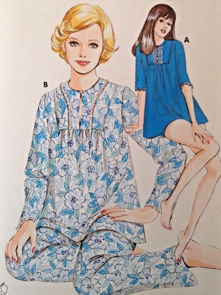 Vtg UC Kwik Sew 526 Pattern Pajamas PJs Bubble Shorts Baby Doll ...