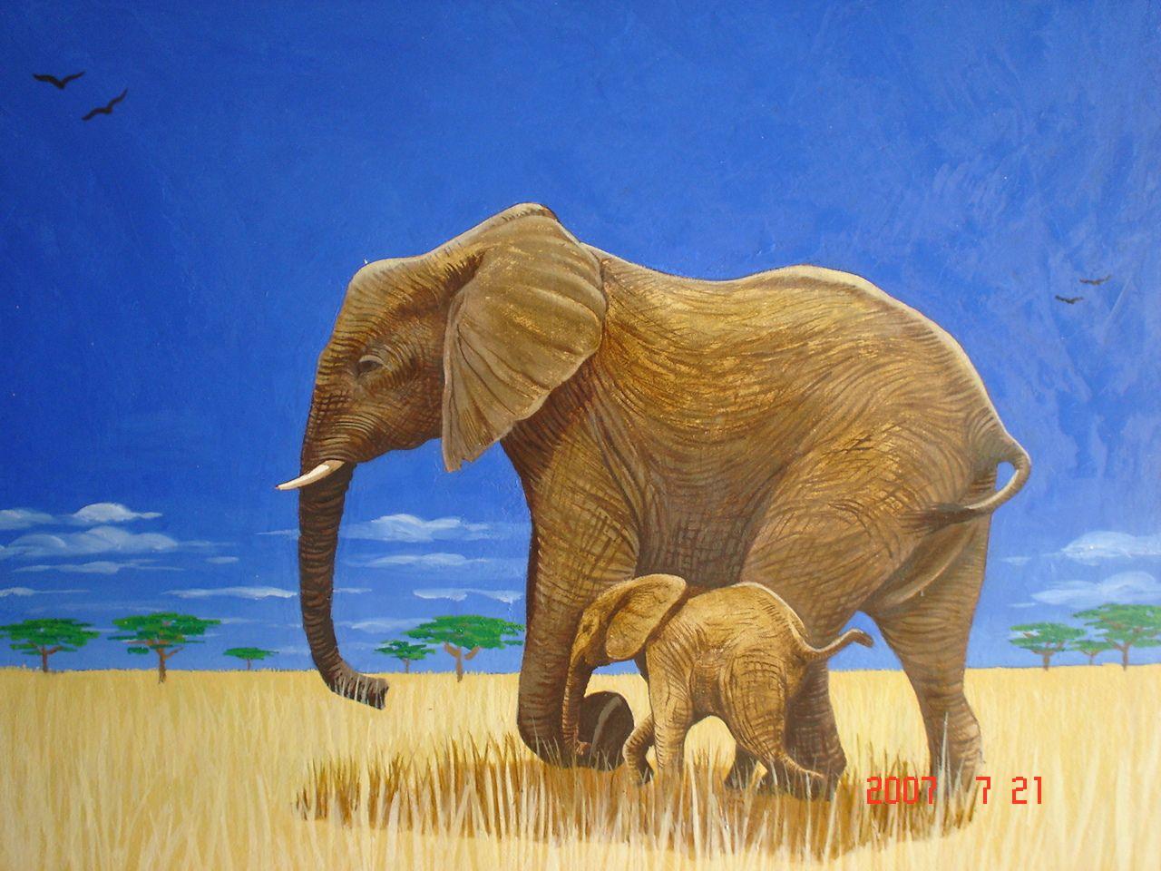 Waldorf ~ 4th grade ~ Human & Animal ~ Elephant ~ main lesson book