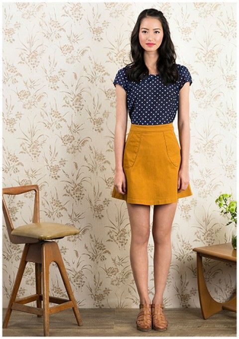 Princess Highway - Summer 14. Navy & mustard is a great combo