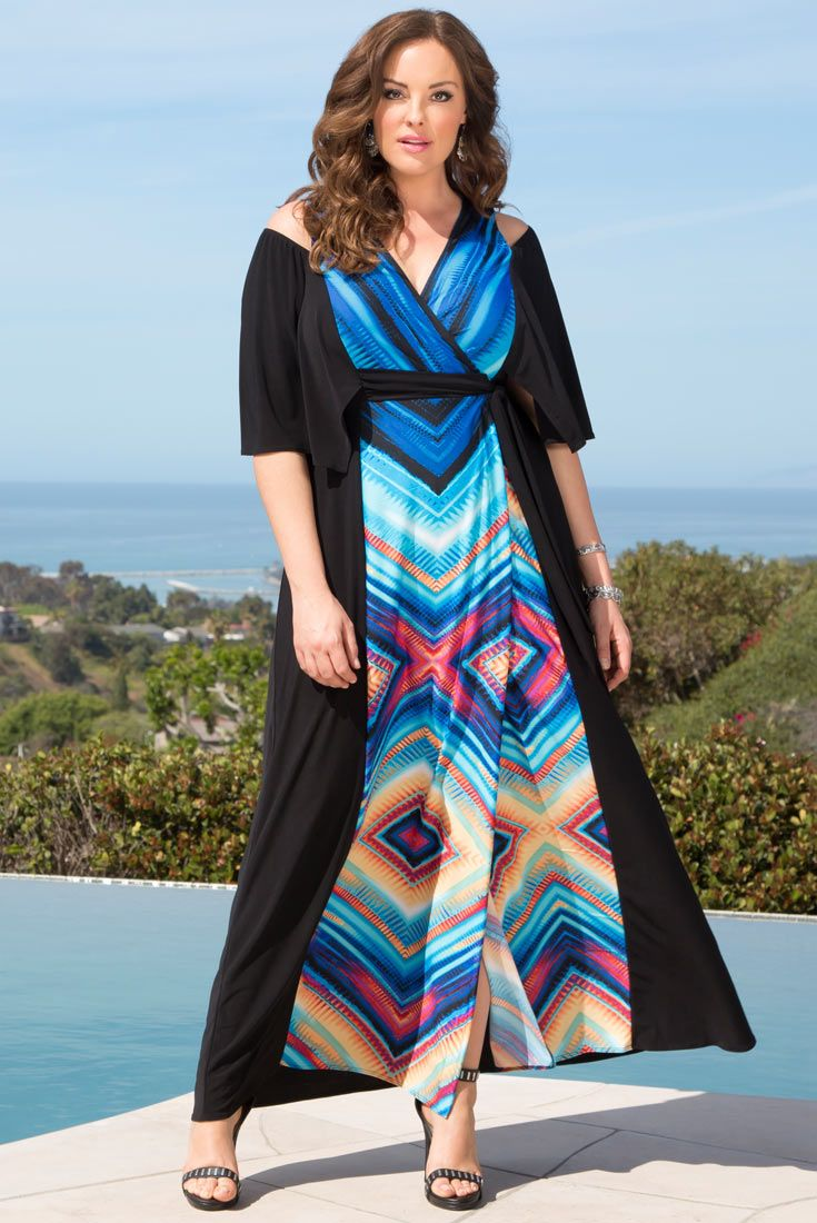 Our plus size Serene Maxi Dress is exactly what your next vacation ...