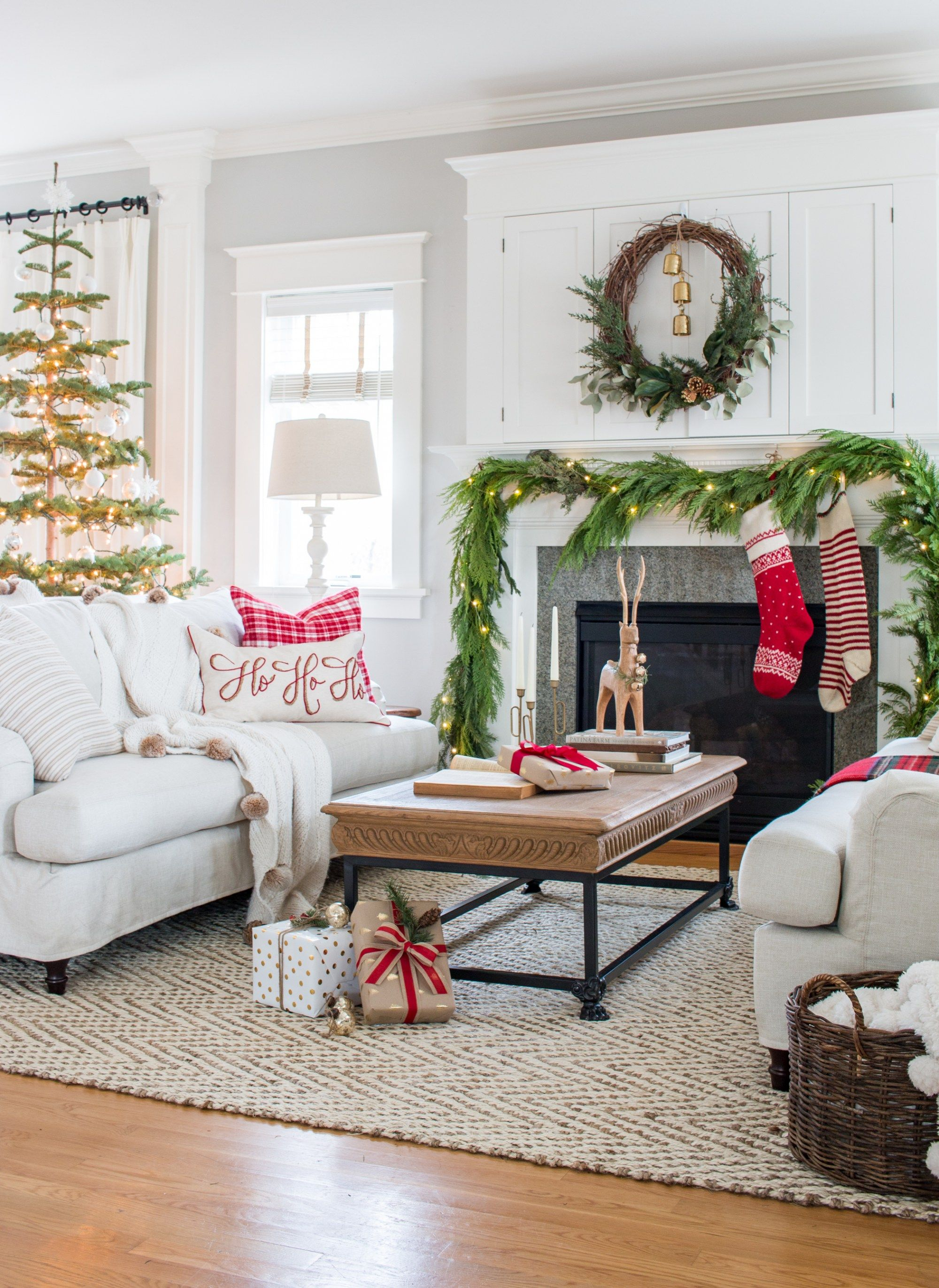 Tour a traditional Christmas living room with