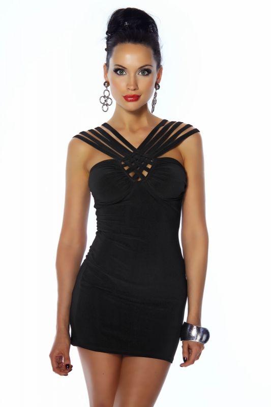 Kleidung mit My Onlineshop SexyPartykleidschwarz Trägern YEDH29WI