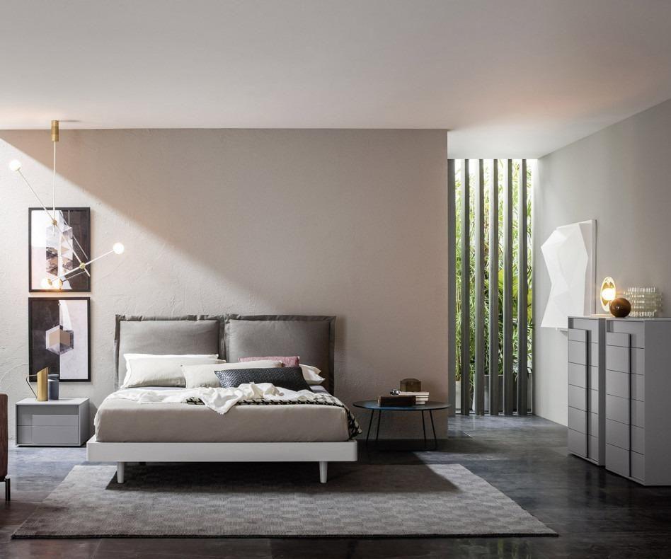 Novamobili Nachttisch Overlap 2 Schubladen Hausbett Bett Modern