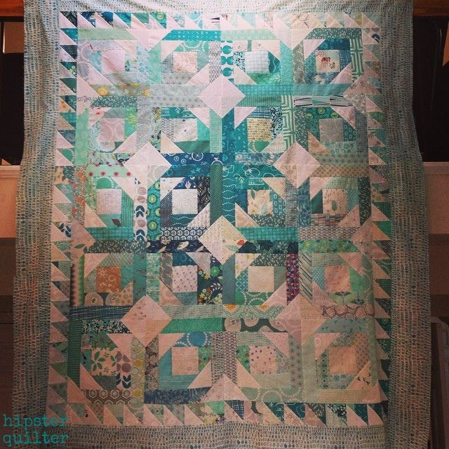 Teal vomit quilt top #pineappleblossoms #hipsterquilter