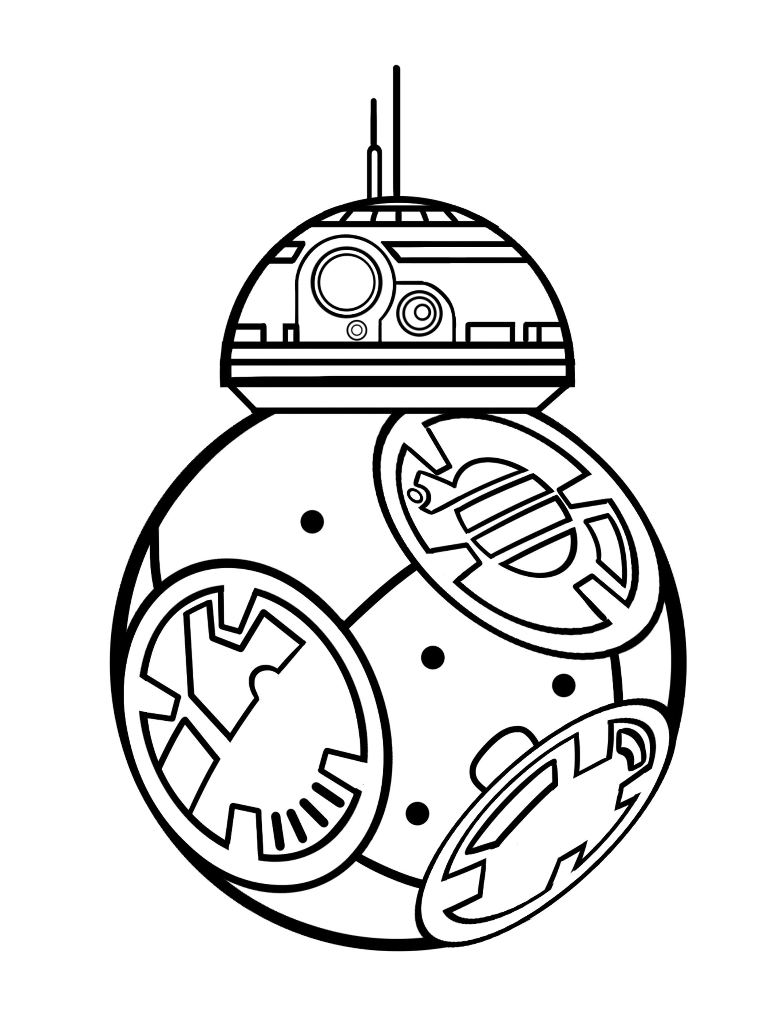 Coloring Pages Bb 8 : BB8.jpg 2,550x3,300 pixels Colouring pages Pinterest