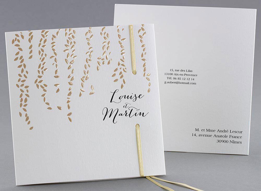 Faire-part de mariage M22-030-O