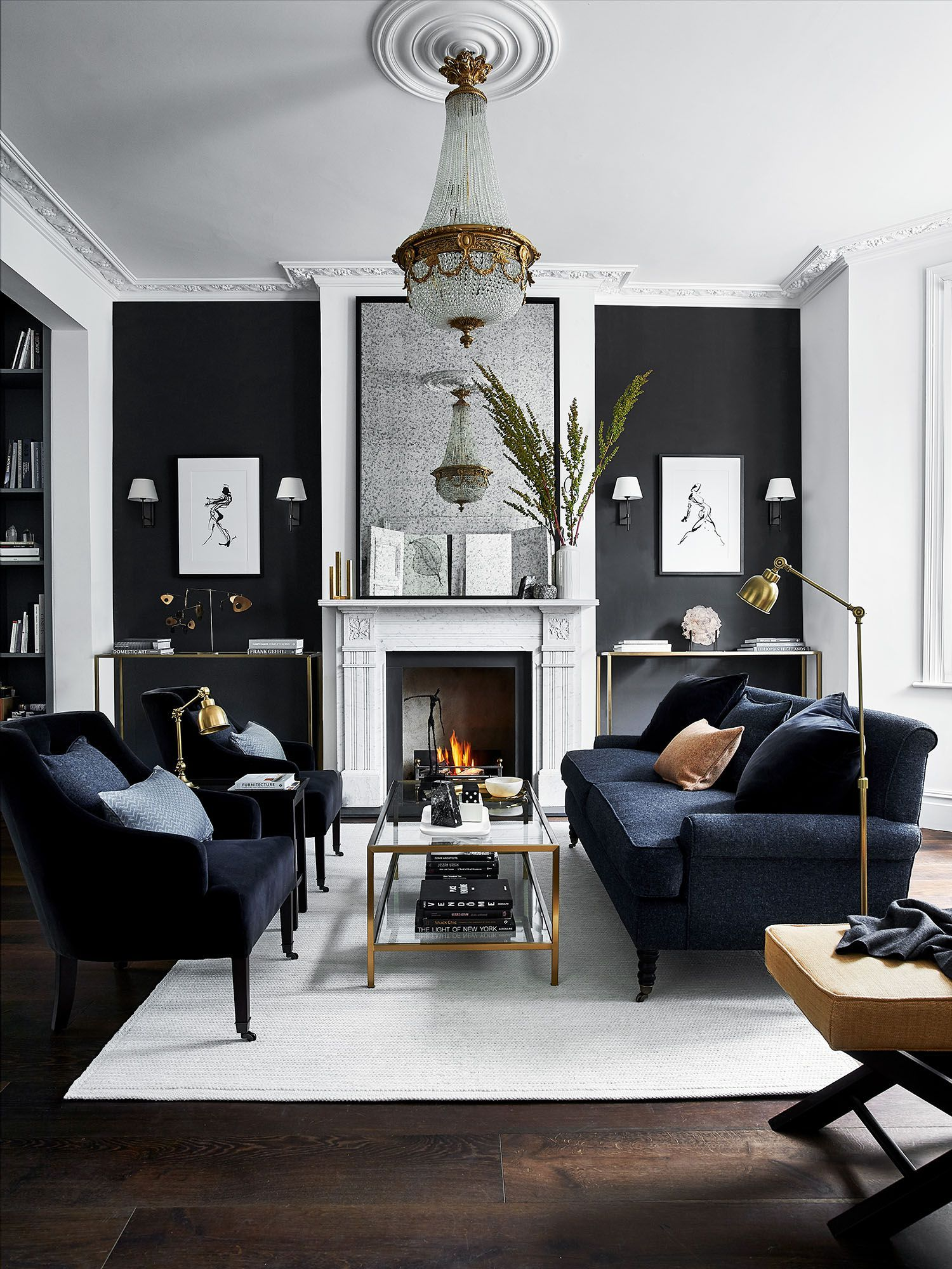 16 Black Living Room Ideas To Tempt You Over To The Dark Side Living Room Sets Furniture Modern Living Room Furniture Sets Living Room Grey