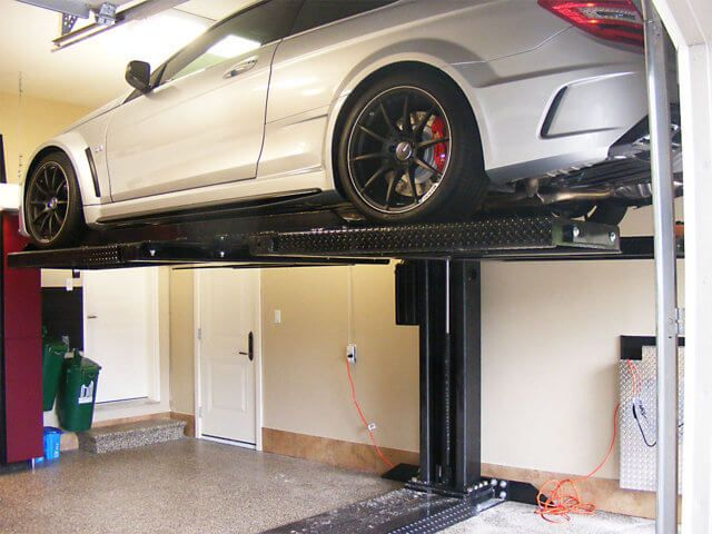 2 Car Garage Etobicoke Right Parking Bay Car Auto Lift After