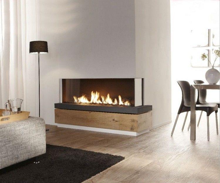 moderner kamin gas geschlossen zwei sichtseiten ecke. Black Bedroom Furniture Sets. Home Design Ideas