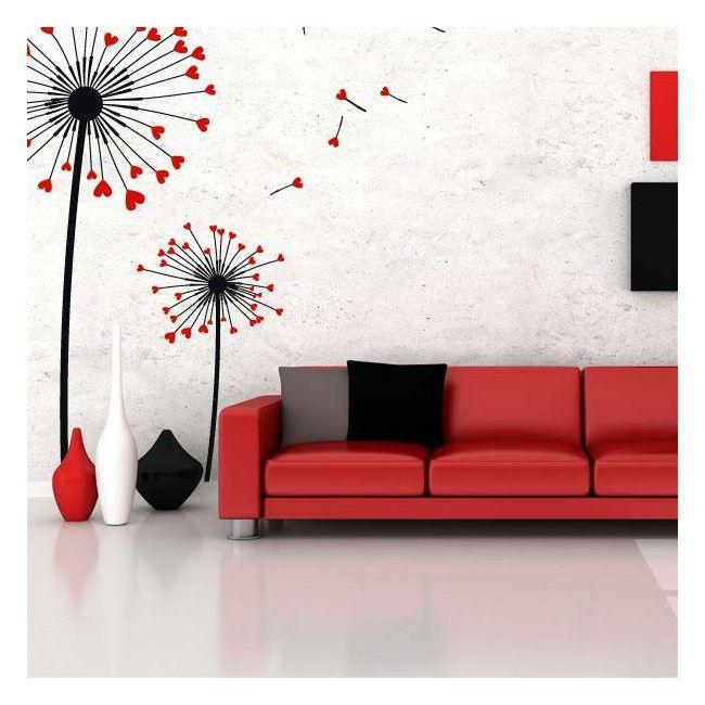 quieres darle un toque romntico y floral a la decoracin de paredes desde vinilos