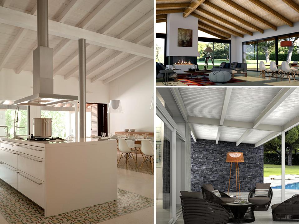Tres tonos de blanco el color de moda en los paneles - Decoracion para techos ...