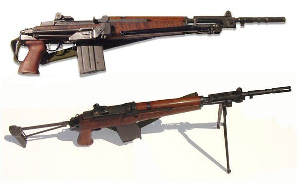 Beretta BM 59 Italian version of M-1 Garand with a magazine instead