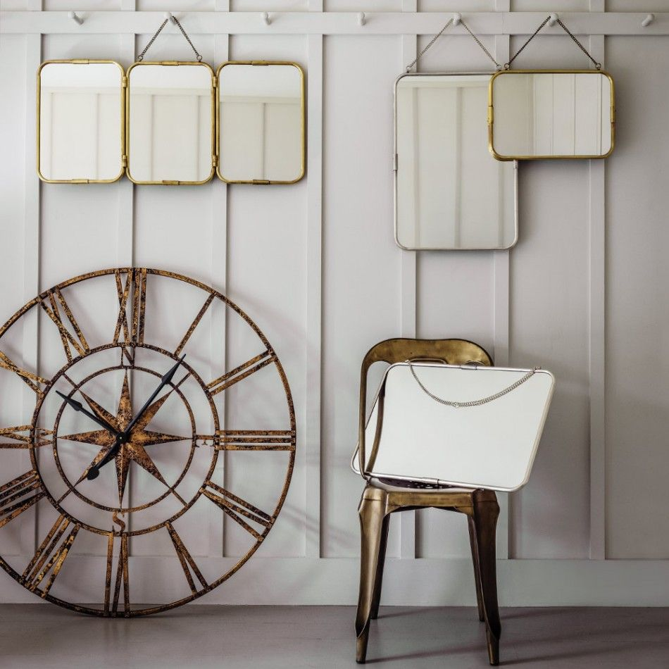 Carriage Mirrors in Silver or Gold | Clocks, Mid century house and ...