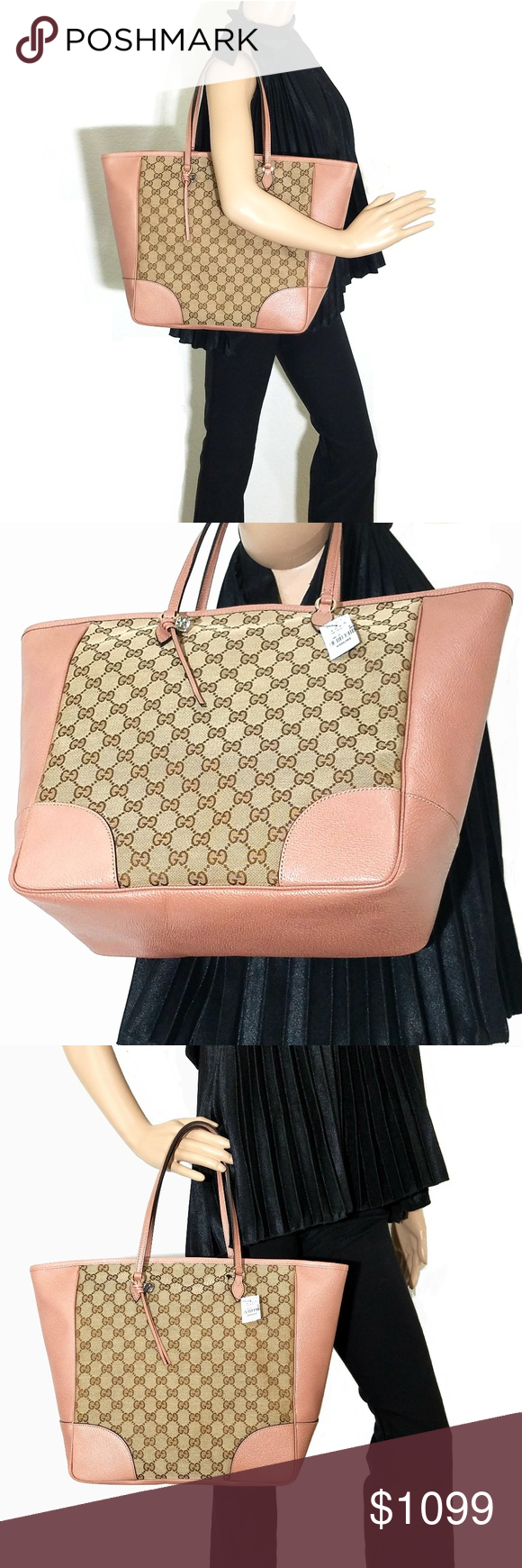 af3f51fbd276 NWT Gucci Bree Original GG Canvas Tote ***100% GUARANTEED AUTHENTIC OR YOUR
