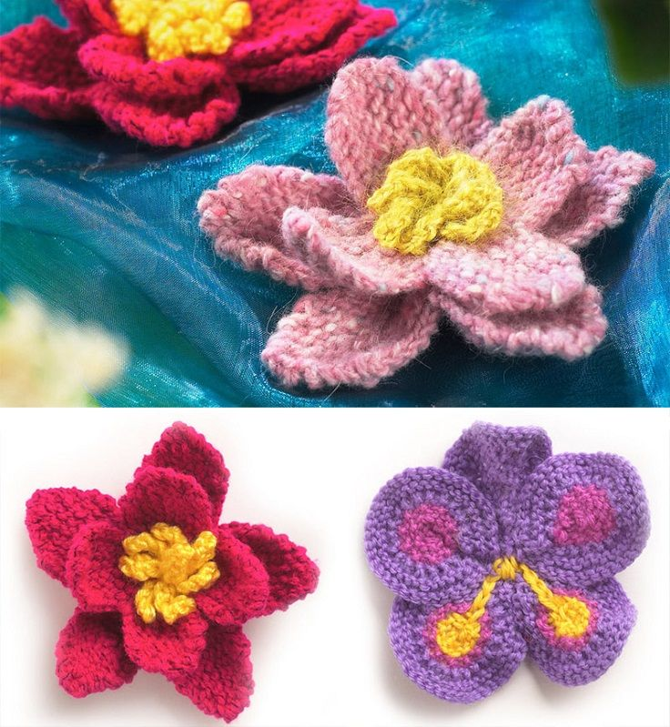 Top 10 Free Flower Patterns To Knit This Spring Knitted Flowers