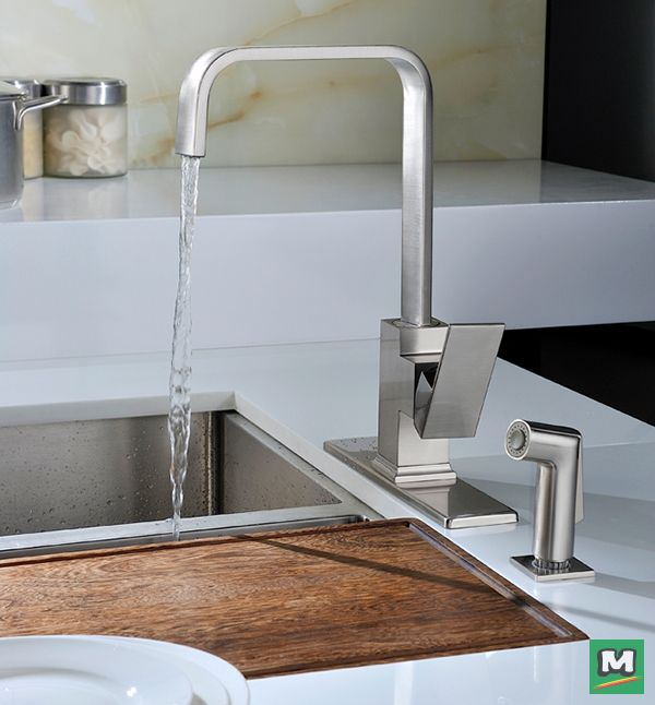 Embrace The Minimalist Aesthetic With The Tuscany Ginkgo Single Handle Kitchen Faucet Paired With A Quick Kitchen Faucet Single Handle Kitchen Faucet Kitchen