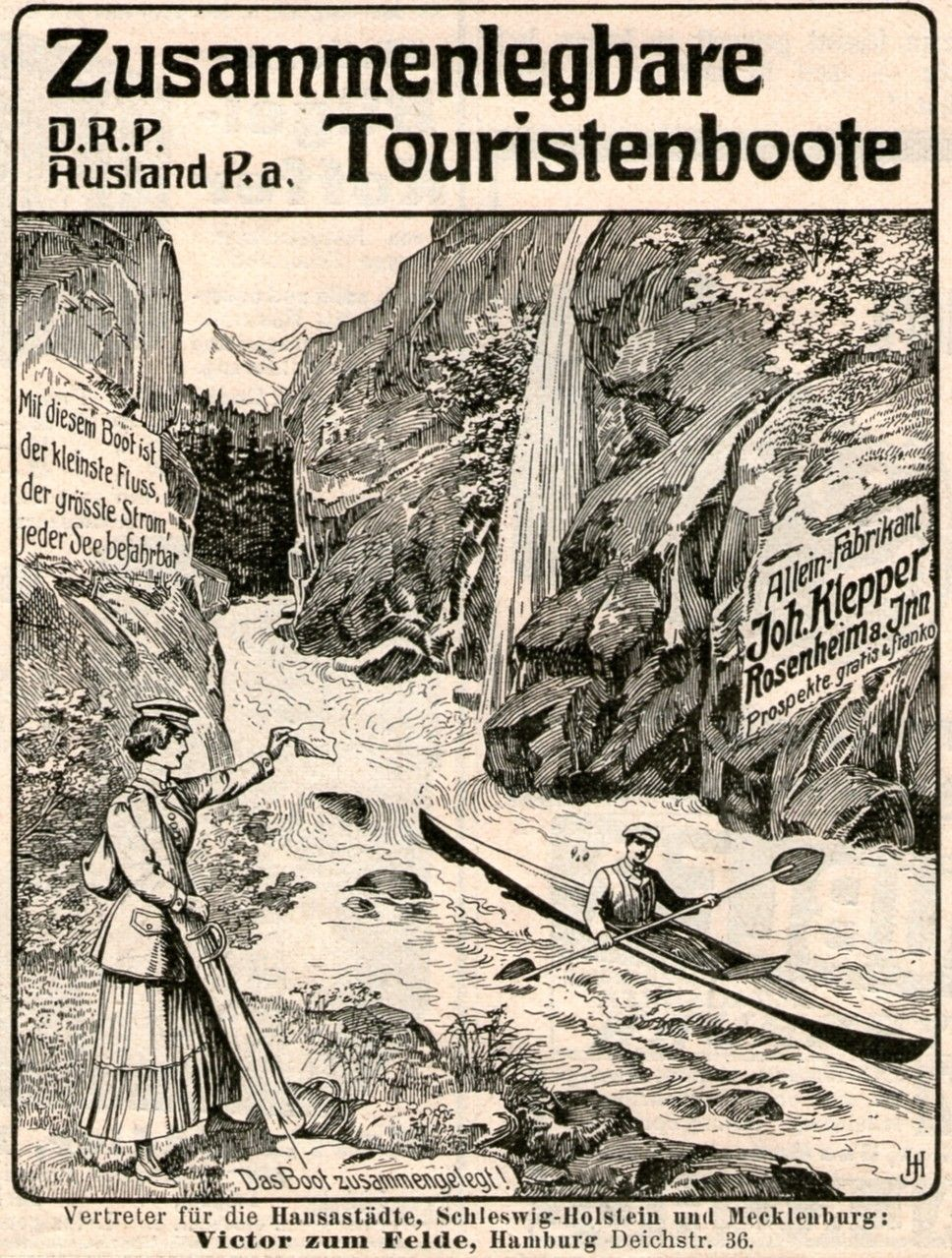1907 : TOURISTENBOOTE / KLEPPER - ROSENHEIM
