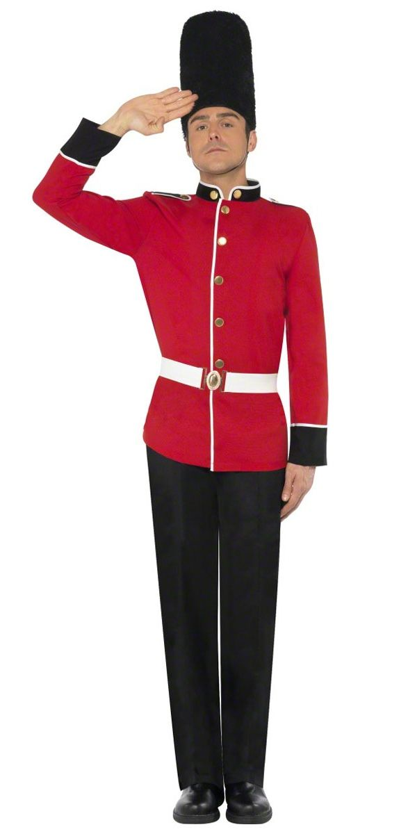 BOYS BUSBY GUARD FANCY DRESS COSTUME LONDON ROYAL SOLDIER QUEENS CHILDS BOOK DAY