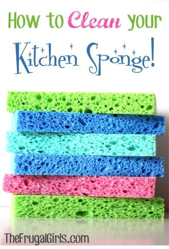 how to clean a sponge with vinegar