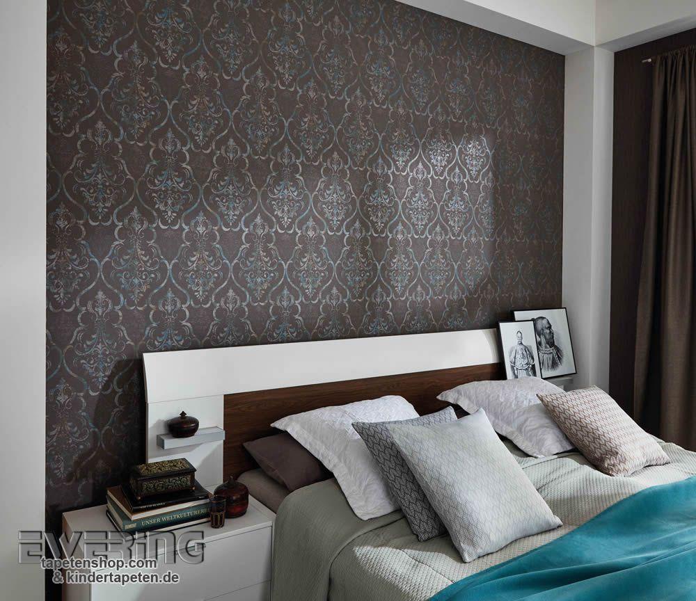 Loft Charakter mit den elaganten Ornamenten als Schlafzimmer Tapete  Fashion for Walls  Guido