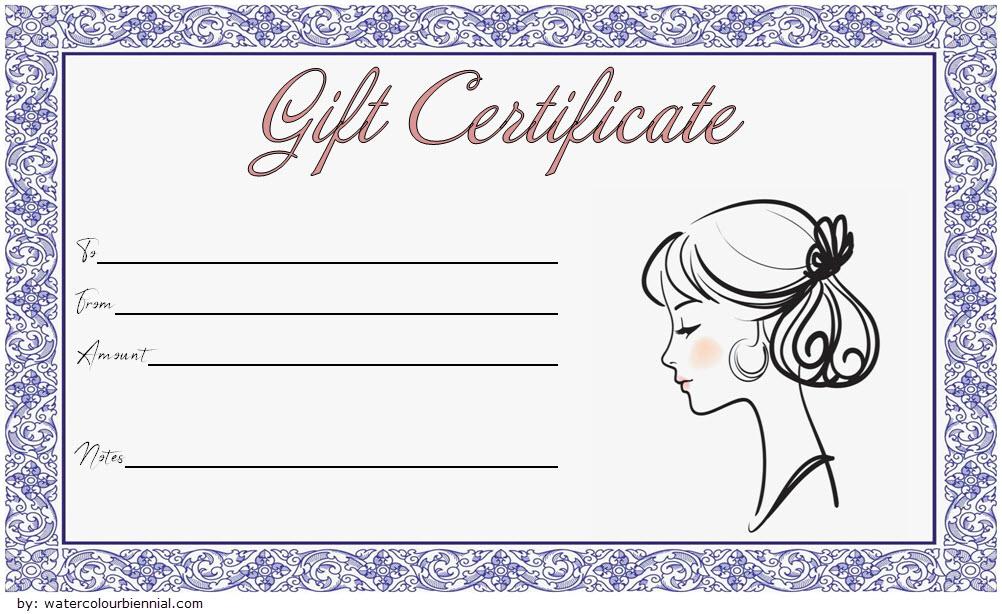 Blank Hair Salon Gift Certificate Template Printable 3 Gift Certificate Template Word Salon Gifts Gift Certificate Template