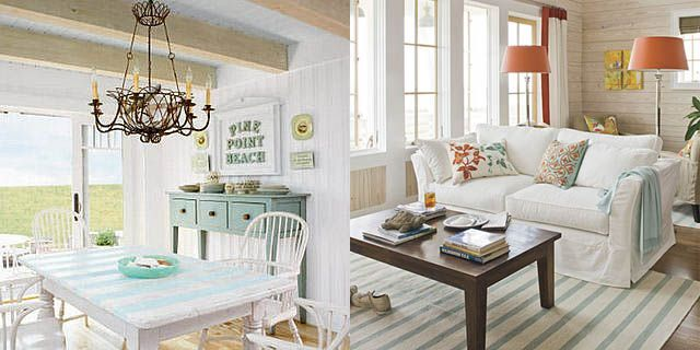 Wonderful Ocean Themed Dining Room Airy Like A Beach Cottage.