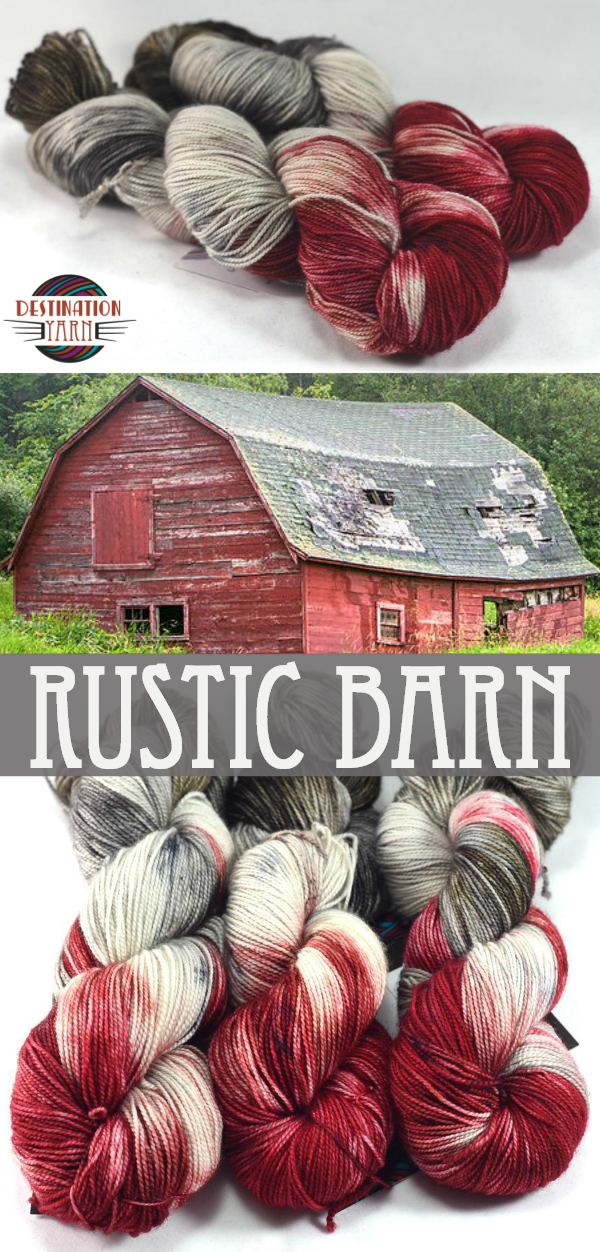 Rustic Barn - Sport Weight Yarn #yarninspiration