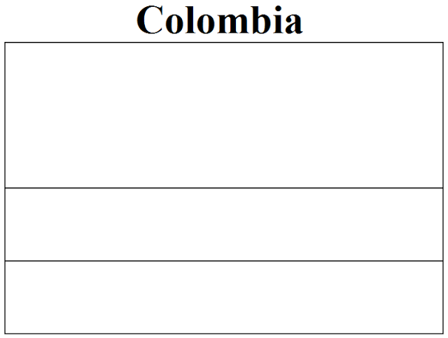 Flag of Colombia coloring page Flags of South America Coloring