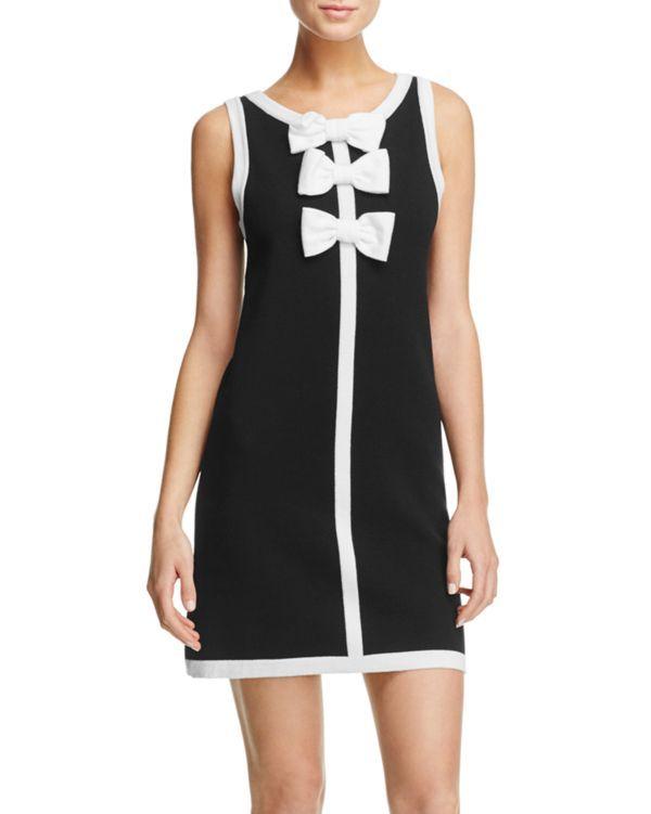Boutique Moschino Bow Knit Dress Wool Knitted Dress Fashion Knit Dress
