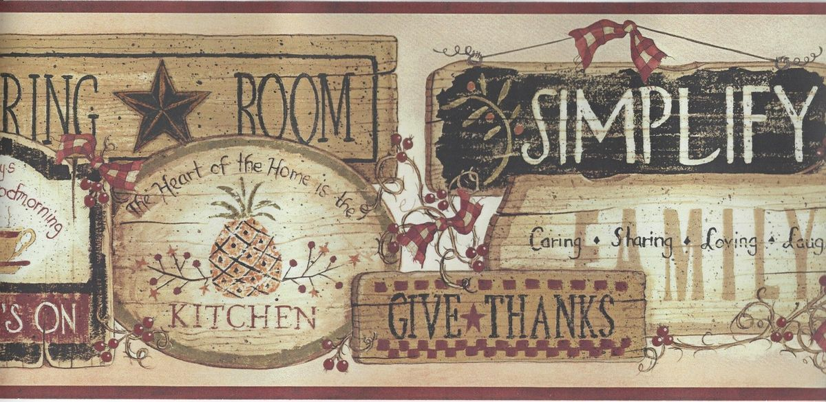 Country Kitchen Wallpaper Border, 2020 (Görüntüler ile)