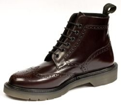6606afc5bea Loake - Oxblood Smooth Leather Brogue Boot (860) - HW02