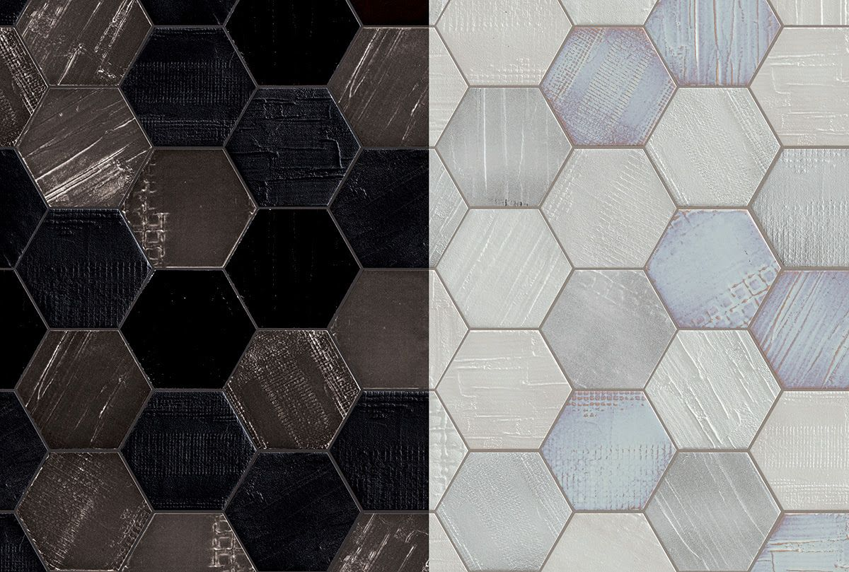 Hexagon tile with texture